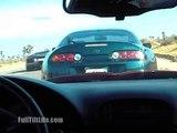 Supra vs Lambo Murcielago Lamborghini vs Toyota Roll Race KINGS OF THE STREET