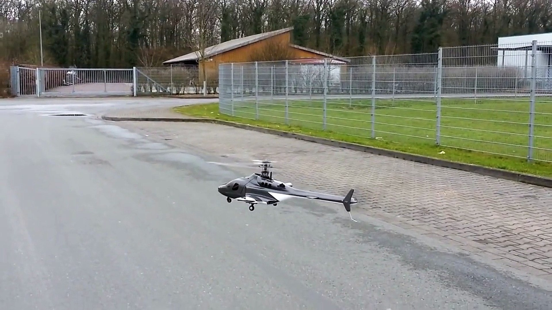 RC KDS 450 Airwolf Fuselage ( Rumpf ) Fly + Crash