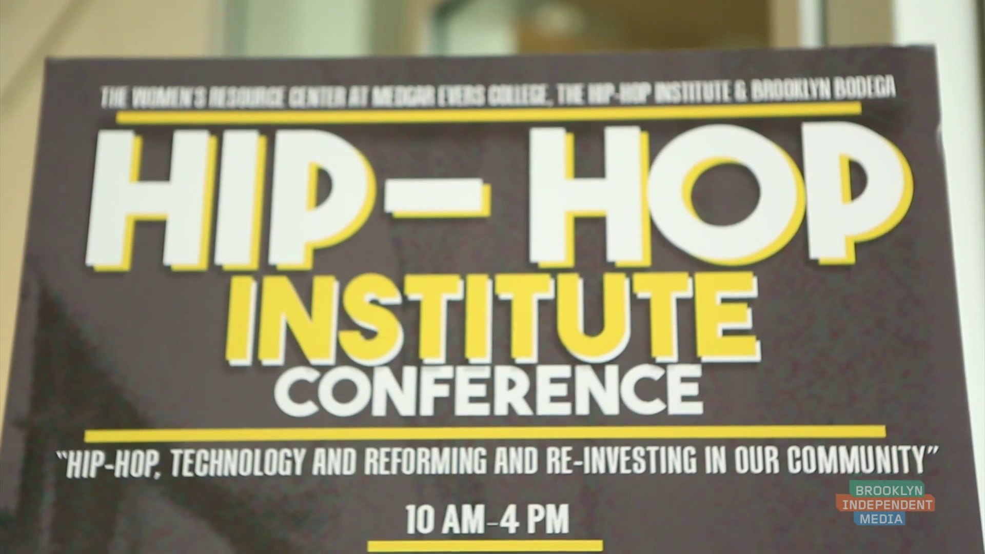 Hip-Hop Institute Conference - Brooklyn Hip Hop Festival 2015 Part 1