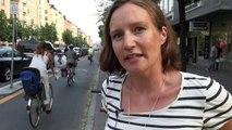 Streetfilms Snippets- Concrete Bike Lane Barriers & Bike Corrals (Stockholm, Sweden)
