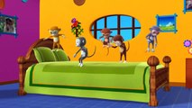 Five Little Monkeys Jumping on the bed - 3D Animation - English Nursery rhymes - 3d Rhymes -  Kids Rhymes - Rhymes for childrens