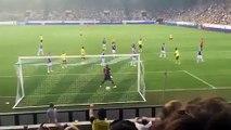 Fan cam footage of Mats Hummels's brilliant curling half-volley for FC Luzern vs Dortmund 2015