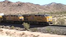 Westbound Union Pacific Autorack Train With Mid-train DPU