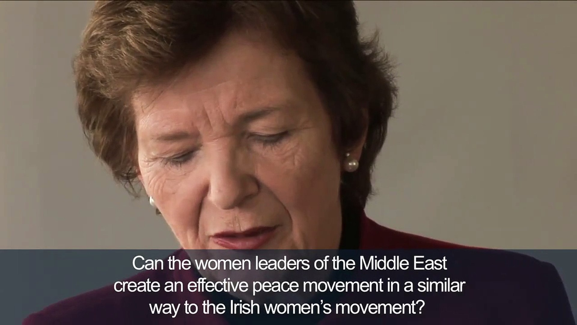 The Elders Middle East Q&A: Mary Robinson -