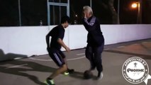 Freestyle Tricks In Football Match Prank By old man