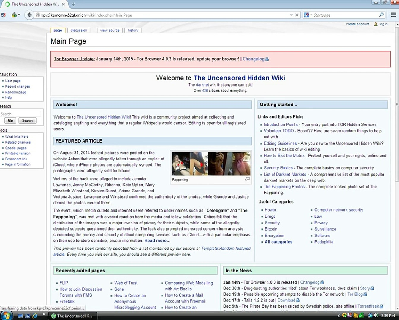 Exploring the Deep Web/Hidden Wiki! (Shocking)!