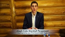Candidate for the 91st Grand Aleph S'gan: Aleph Cole Pergament