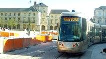 Orléans - Essais du tram - Cathédrale-Hôtel de Ville