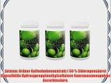 3er Pack Vita World Gr?ner Kaffee 300mg mit Guarana 180 Kapseln Apotheken Herstellung 50% Chlorogens?ure