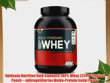 Optimum Nutrition Gold Standard 100% Whey 2270 g Tropical Punch -- mikrogefiltertes Molke-Protein