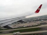 Turkish Airlines B737-800 taking off from Paris CDG