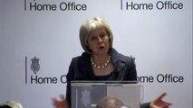 Home Secretary Theresa May announces police custody review