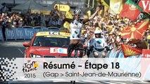 Résumé - Étape 18 (Gap > Saint-Jean-de-Maurienne) - Tour de France 2015