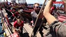 Arrivée de l'Hermione à St Pierre et Miquelon
