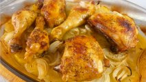 POLLO AL HORNO CON PATATAS - recetas de cocina faciles rapidas y economicas de hacer