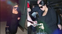 Kim Kardashian dévoile son petit ventre dans un justaucorps