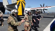 Chairman JCS General Dempsey visits the French Aircraft Carrier Charles de Gaulle Visit (R91)