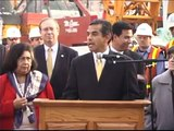Metro Gold Line Eastside Extension Tunnel Breakthrough - Tunneling Begins at Mariachi Plaza Station