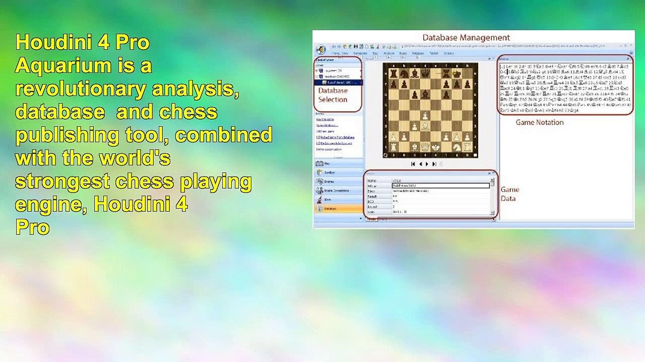 Houdini 4 Pro Aquarium Chess Software