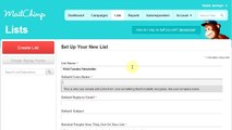 How to create a list & import emails in MailChimp