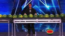 Trizzie D Man Breaks World Record by Smashing 45 Watermelons With His Head America's Got Talent