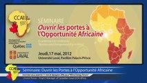 Séminaire: Ouvrir les Portes à l'Opportunité Africaine