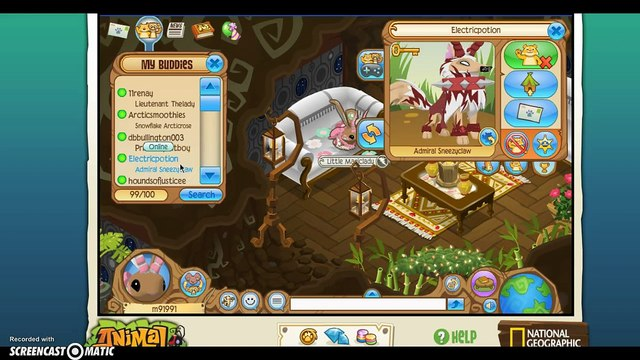 Animal Jam: My buddy list! Best friends and more!