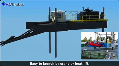 Dredging 8010 HP Swinging Ladder Dredge – IMS Dredges- Dredge Animation – Dredger Projects