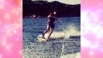 Heidi Klum shows off her boyfriend Vito Schnabel wake boarding in St Tropez
