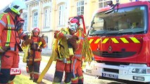 Luçon : manœuvres incendie des sapeurs-pompiers à l'évêché