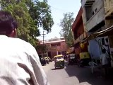 Our first rickshaw ride in Agra, India!