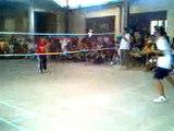 badminton dobols (Masapang National High School VS Liceo De Victoria) Semi Final 2-0 score MNHS win
