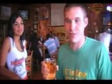 Lol: This Dude Chugs These Hooters Beers Like Its A Sip Of Water!
