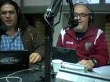 2012/02/07 Iván Loscher sorprende en cabina para celebrar aniversario Miguel y Luis en la radio.