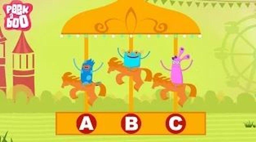 ABCD Poem | Popular Nursery Rhyme With Lyrics For Kids | Peekaboo