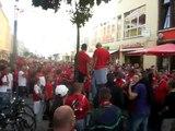 Marsch vorm Spiel FC Energie Cottbus - Herha BSC (Teil 2)