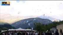 Crash du Germanwings: la cérémonie d'hommage aux victimes s'achève par un lâcher de ballons