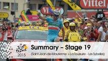 Summary - Stage 19 (Saint-Jean-de-Maurienne > La Toussuire - Les Sybelles) - Tour de France 2015