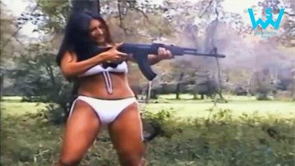 Funny girls gunshot fail