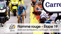 Flamme Rouge / Last KM - Étape 19 (Saint-Jean-de-Maurienne > La Toussuire - Les Sybelles) - Tour de France 2015