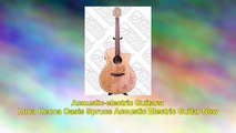 Luna Henna Oasis Spruce Acoustic Electric Guitar New