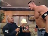 John Cena & Kurt Angle Backstage Fight - Wrestling