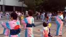 Bon-odori, Japanese dance (street festival dance at Nagoya Japan)