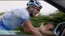 Action auf dem Rad während der  Tour de France