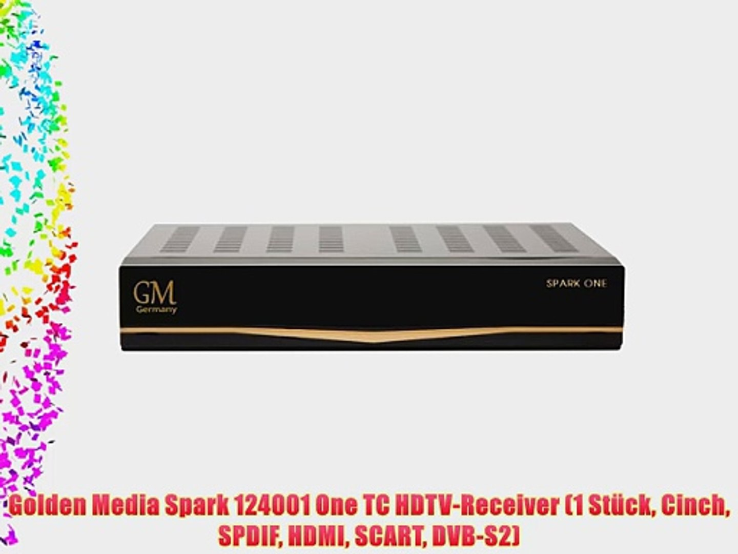 Golden Media Spark 124001 One TC HDTV-Receiver (1 St?ck Cinch SPDIF HDMI  SCART DVB-S2)