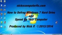 How to Defrag Windows 7 Hard Drive & Speed Up your Computer -  Free & Easy