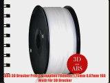 ABS 3D Drucker Printer Supplies Filament 1.75mm 007mm 1KG Wei? F?r 3D Drucker
