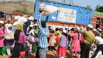 Loading Material for Distribution  Day 1 - Kolhapur Medical & Health Care Camp 2015