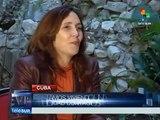 Entrevista a una emocionada Mariela Castro en teleSUR. Unidos con Venezuela. La Habana, Cuba