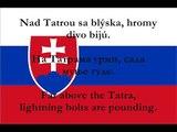 Nad Tatrou sa blýska - National Anthem of Slovakia with lyrics (Slovak, Serbian, English)